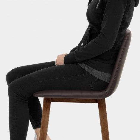 Spritz Wooden Stool Brown Seat Image