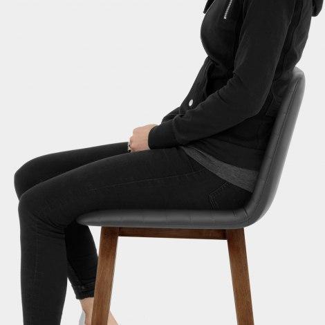 Spritz Wooden Stool Grey Seat Image