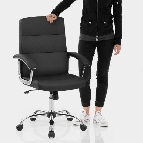 Stanford Office Chair Black Features Image