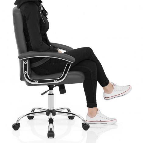 Stanford Office Chair Grey Seat Image