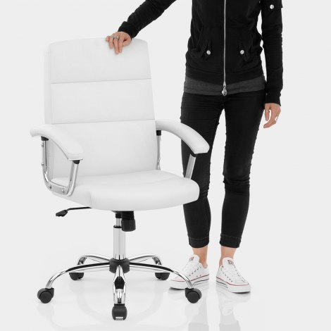 Stanford Office Chair White Features Image