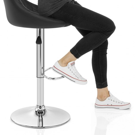Stitch Bar Stool Black Seat Image