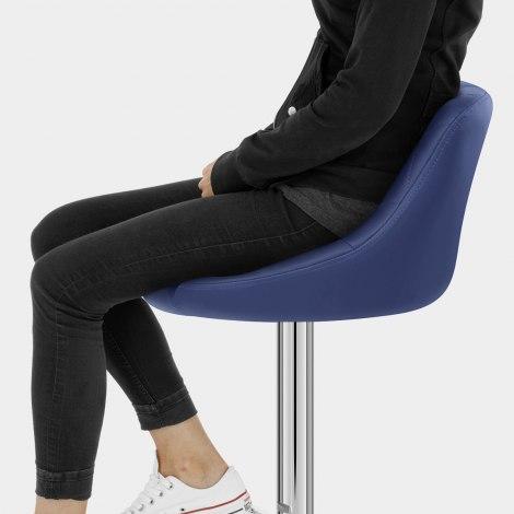 Stitch Bar Stool Blue Seat Image
