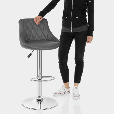 Stitch Bar Stool Grey Features Image