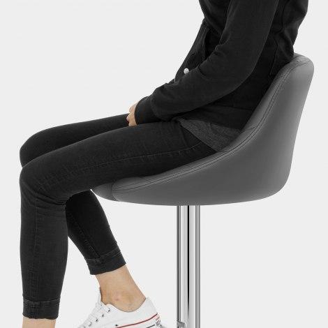 Stitch Bar Stool Grey Seat Image