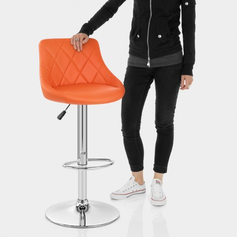 Stitch Bar Stool Orange Features Image