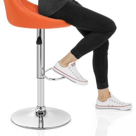 Stitch Bar Stool Orange Seat Image