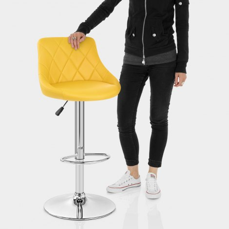 Stitch Bar Stool Yellow Features Image