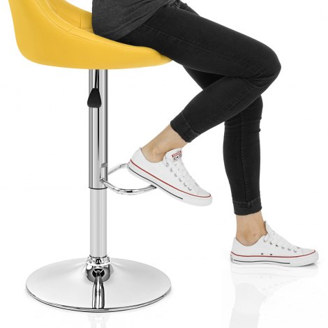 Stitch Bar Stool Yellow Seat Image