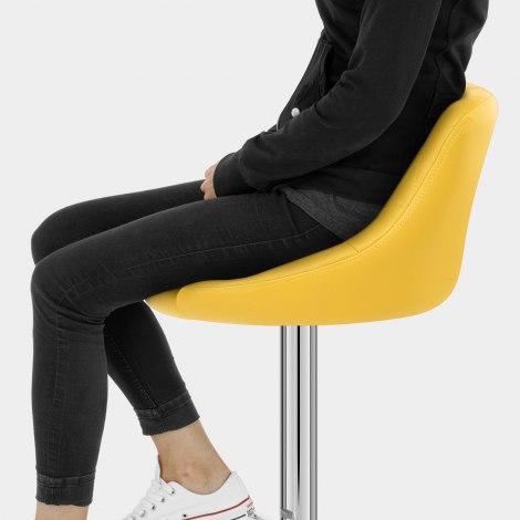 Stitch Bar Stool Yellow Seat Image