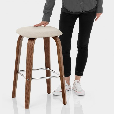 Stockholm Bar Stool Beige Features Image