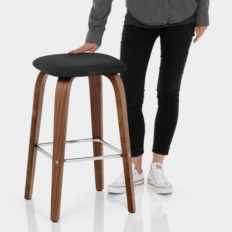 Stockholm Bar Stool Black Features Image