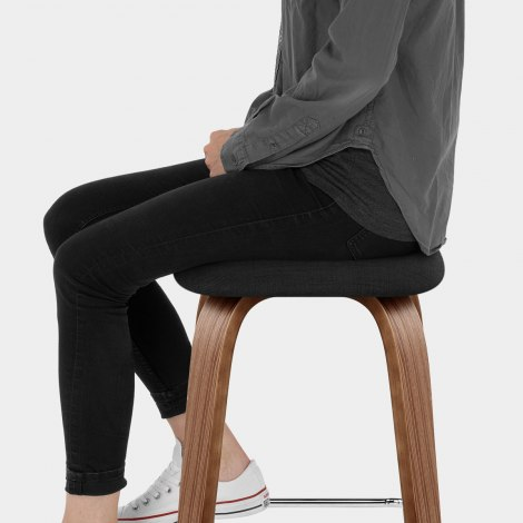Stockholm Bar Stool Black Seat Image