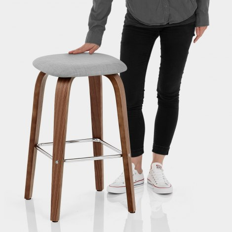 Stockholm Bar Stool Grey Features Image
