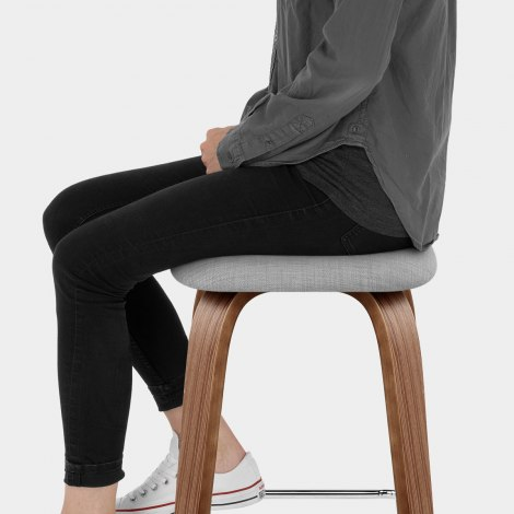 Stockholm Bar Stool Grey Seat Image
