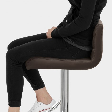Style Bar Stool Brown Seat Image
