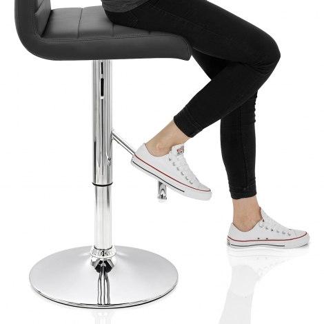 Style Bar Stool Black Seat Image