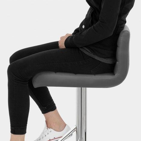 Style Bar Stool Grey Seat Image