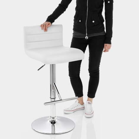 Style Bar Stool White Features Image
