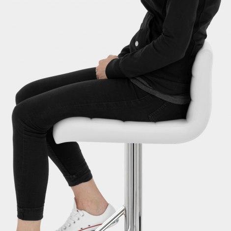 Style Bar Stool White Seat Image