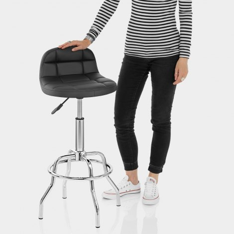 Summit Bar Stool Black Features Image