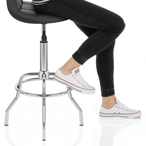 Summit Bar Stool Black Seat Image