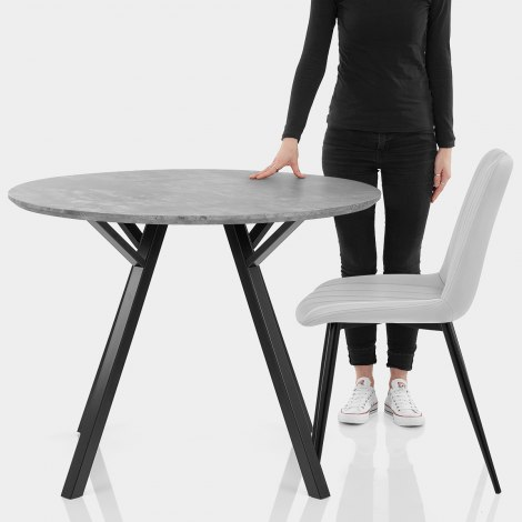 Sussex Dining Set Concrete & Light Grey Features Image