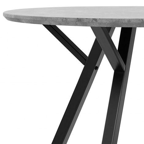 Sussex Dining Set Concrete & Light Grey Frame Image