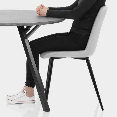 Sussex Dining Set Concrete & Light Grey Seat Image