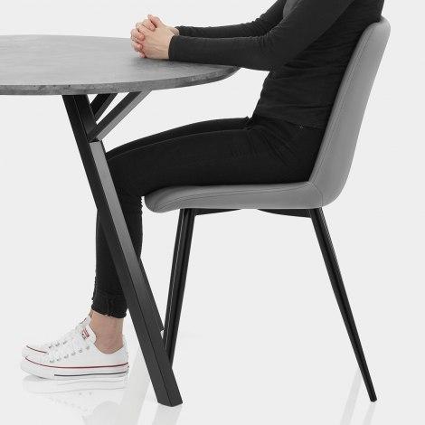 Sussex Dining Set Concrete & Mid Grey Seat Image