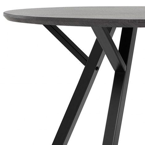 Sussex Dining Set Grey Wood & Charcoal Frame Image