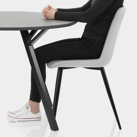 Sussex Dining Set Grey Wood & Light Grey Seat Image