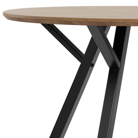 Sussex Dining Set Oak & Charcoal Seat Image