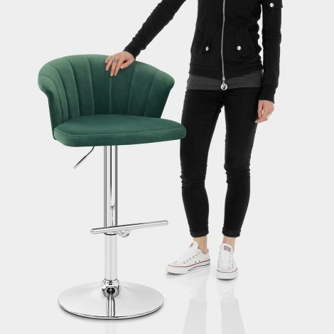 Symphony Bar Stool Green Velvet Features Image