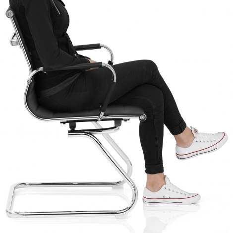 Task Office Chair Black Seat Image