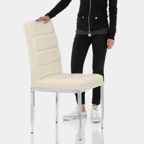 Taurus Dining Chair Cream Features Image