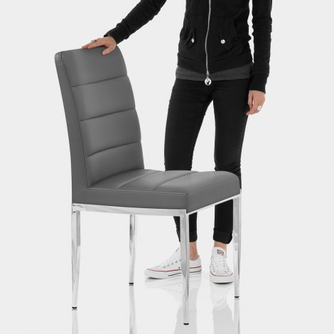 Taurus Dining Chair Grey Features Image