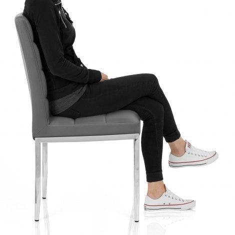 Taurus Dining Chair Grey Seat Image