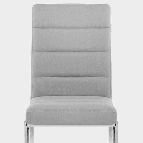 Taurus Dining Chair Light Grey Fabric Seat Image