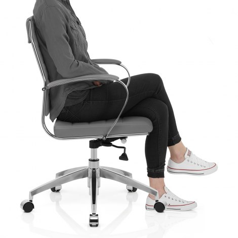 Tek Office Chair Grey Seat Image
