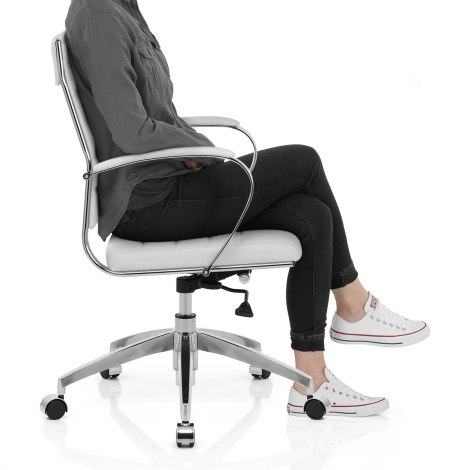 Tek Office Chair White Seat Image