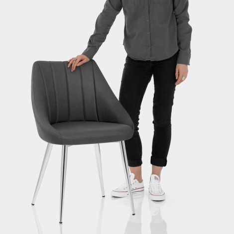 Tempo Dining Chair Charcoal Features Image
