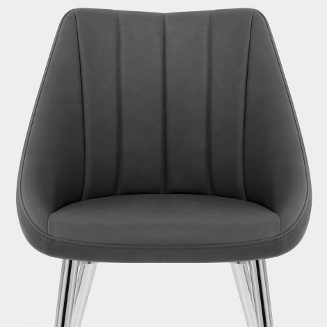 Tempo Dining Chair Charcoal Seat Image