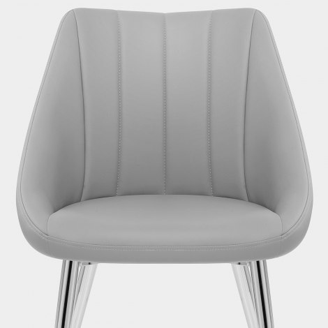 Tempo Dining Chair Light Grey Seat Image