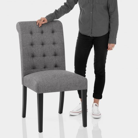 Thornton Dining Chair Charcoal Fabric Features Image