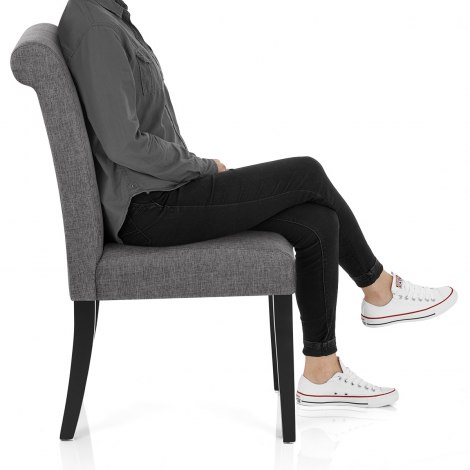 Thornton Dining Chair Grey Fabric Seat Image