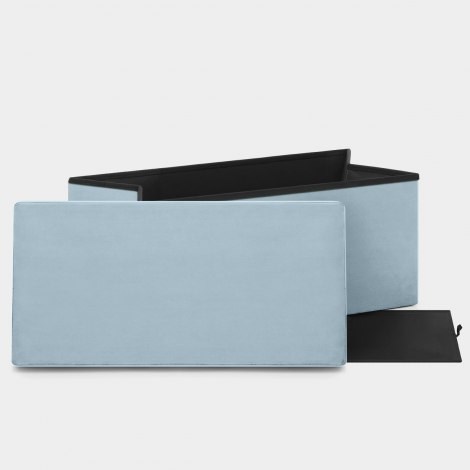 Tiffany Foldable Ottoman Blue Velvet Features Image