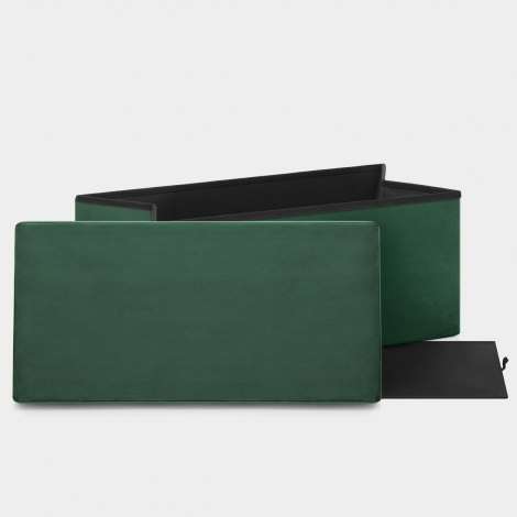 Tiffany Foldable Ottoman Green Velvet Features Image