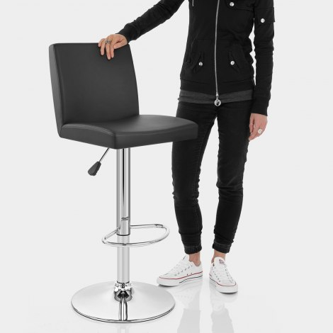Topaz Bar Stool Black Features Image