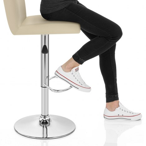 Topaz Bar Stool Cream Seat Image
